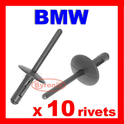 Bmw X3 E83 X5 E53 Pop Rivets Front Wing Wheel Arch Sill Skirt Trim