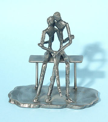 "Abstract Metal Sculpture – ""Lovers Embracing"""