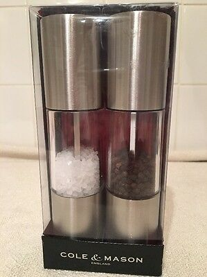 Cole & Mason Precision Grinder Oslo Acrylic And Stainless Steel Salt and Pepper
