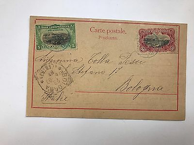 OLD  Postcard Congo Francais Village Indigène From Congo To Italy 1900