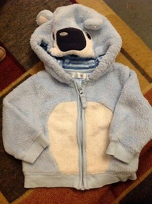 Baby Boys Cardigan 3-6 months Blue Bear design top, clothes
