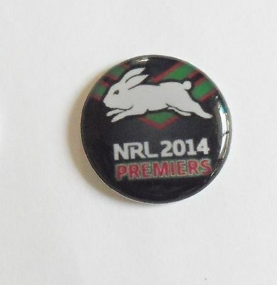 2 only SOUTH SYDNEY RABBITOHS 2014 PREMIERS GOLF BALL MARKERS approx 25 mm