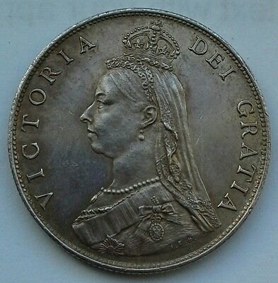 HIGH GRADE 1887 QUEEN VICTORIA FLORIN/TWO SHILLINGS.  (Ref:30)