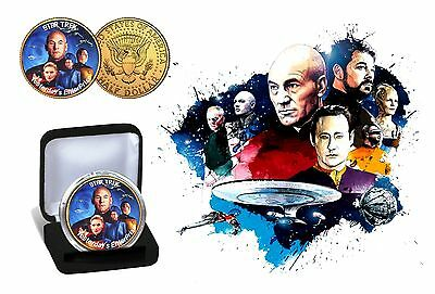Star Trek -  The Collective 24 Karat Gold Plated Colorized JFK Half Dollar Coin
