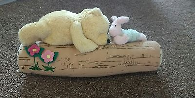Disney Winnie The Pooh and Piglet On A Log Teddy Bear - Classic Pooh