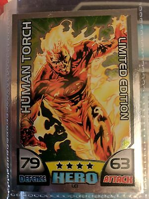 Topps HERO ATTAX Series 1 Full Set Inc all LTD Cards very rare LE 1 Human Torch
