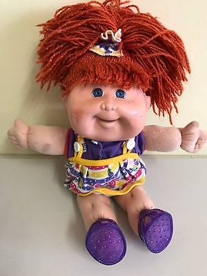 Rare 1995 BANNED Snacktime Cabbage Patch Kid red hair + original outfit
