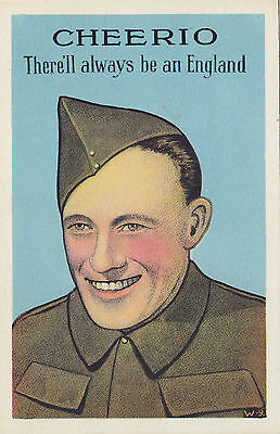 """Cheerio there Always be an England"" WWII Patriotic Canadian Army PECO Postcard"
