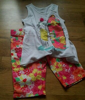 Girls summer floral shorts and top age 8 brand new