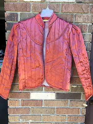 Vtg NWT 60's 70's Surf And Turf Stitched Dress Jacket Women's Sz S Copper Rare