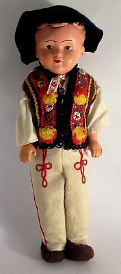 Antique/vintage German Costume hard plastic boy doll
