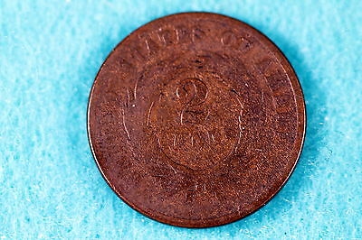 Estate  Find 1865 -  Two Cent Piece!!! #f7712