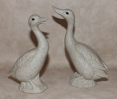 "Goose Figurines, Ceramic w/ stone-like feel, Cute, 5.25"" tall!!"