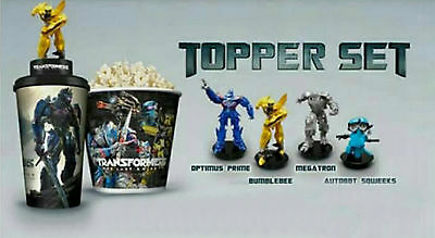 Transformers The Last Knight Set of 4 Movie Cup + Topper Premium Theater
