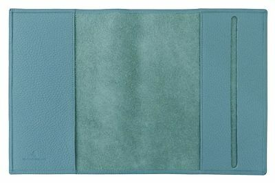 Carpe Diem A5 Cover a libro Derby Fashion Pelle turchese