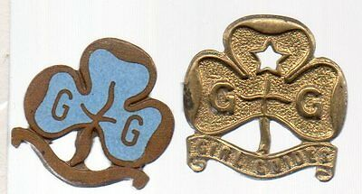 2 X Girl Guides Badges One Enamal