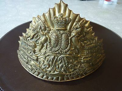 Original Victorian 9th Queens Royal Lancers Chapska / Helmet Plate 1880 - 90