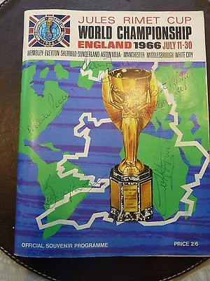 World Cup England 1966 - Programme Signed by Hurst, Stiles, Ball, Moore & Peters