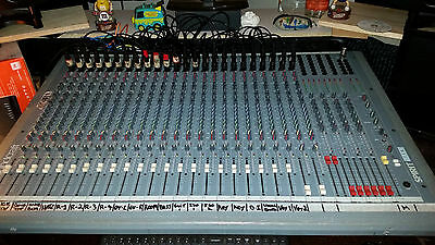 SOUNDCRAFT SPIRIT STUDIO 24x8  INLINE RECORDING CONSOLE MADE IN UK WITH CASE