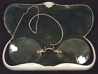 Stunning Pair of Victorian Pince Nez Reading Spectacles Ear Clip