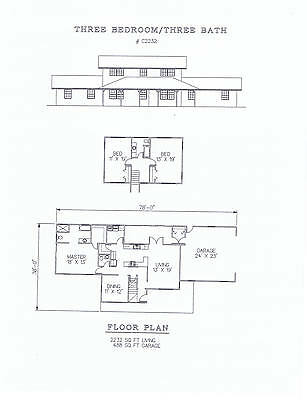 2232 square foot three bedroom house plan