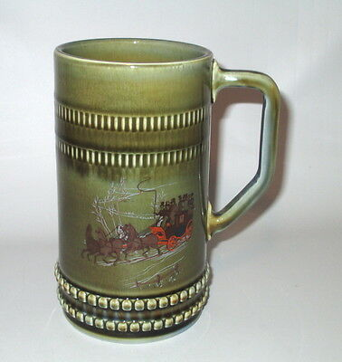"Wade Ireland Stein Mug Horse & Carriage 6.5"" Irish Porcelain 20 oz"