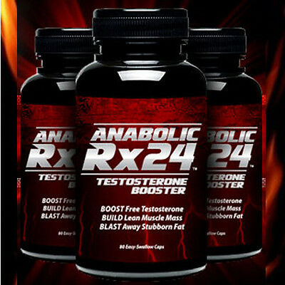 Anabolic Rx24 Testosterone Booster Dietary Supplement 60 Capsules