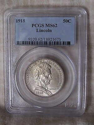 1918 State of Illinois Silver Commemorative Half Dollar Graded by PCGS