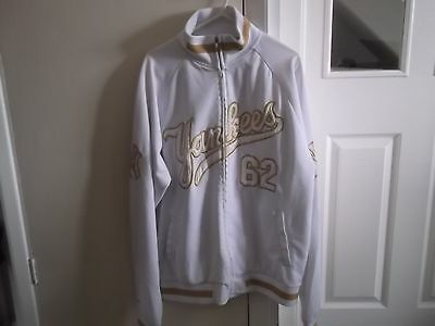 New York Yankees Track Suit Jacket Top Large Size Coopertown Collection Make
