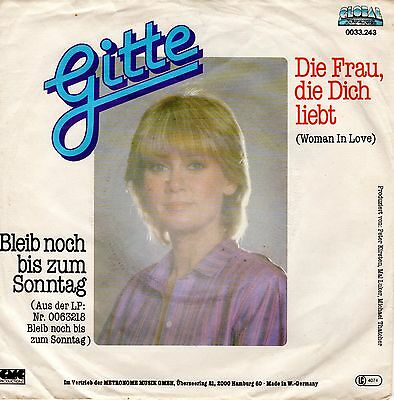 "7"" JUKE-BOX Single GITTE / Die Frau, die dich liebt (Woman In Love) 1980"