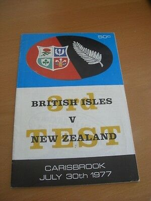 British Lions New Zealand Rugby Union Programme 1977 3Rd Test + Extras