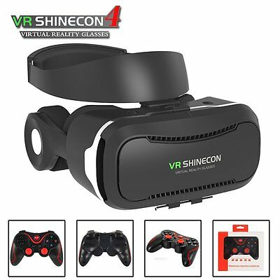 3D VR Shinecon 4.0 Virtual Reality Glasses Goggles Headset for iPhone 7Plus 7 6