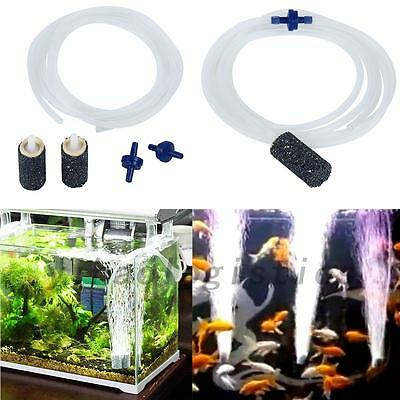 1 Tube + 2 Pierres À Air + 2 Soupapes D'Air Set Accessoires Aquarium