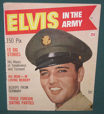 Elvis Presley In The Army All Elvis Magazine 1959 Exc