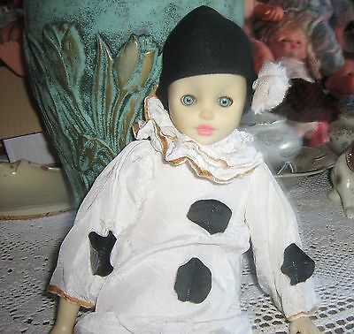 Bellissimo Pierrot Vintage Anni 60 In Celluloide Made In Italy.alt.cm 50 Complet