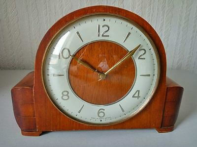 Vintage Smiths Made in GB Two 2 Jewels Unadjusted Mantle Clock Antique