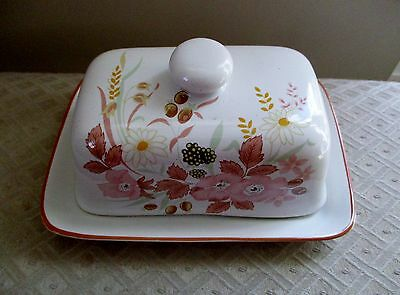 Boots Hedge Rose Design Butter Dish