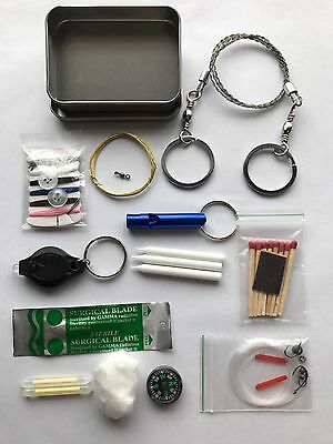 Compact Mini Survival Kit. Hiking Camping Emergency EDC Pocket Size 1oz