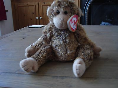 ty beanie baby-bonsai the monkey with tags