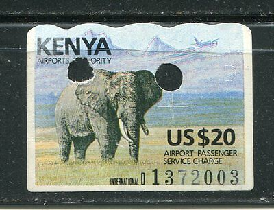 Kenya Revenue stamp $20 Airport Passenger Service Charge