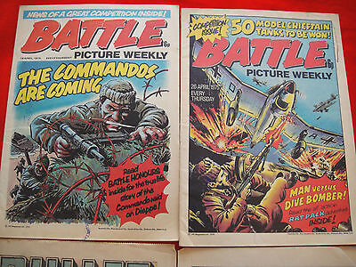 2x BATTLE PICTURE WEEKLY UK COMICS ~ APRIL 1975