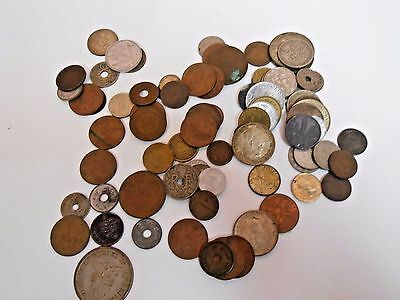 WWII Coins Money Lot of 79 Japan Australia Norway Philippines Foreign Currency