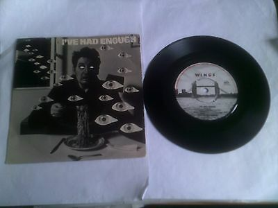 Wings I've Had Enough Rare EX+ 1978 1st UK 1/1 Matrix Picture Sleeve MPL R6020