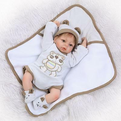 17'' Reborn Silicone Baby Dolls Boy Girls Vinyl Baby Doll Newborn Sleep Dolls