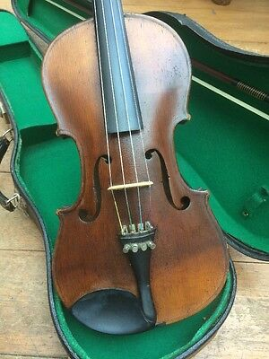 Antique Violin Quality 4/4 Violin Playing Order C1900 Flame Back Nice Sound