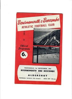 Bournemouth v Aldershot (League Cup Round 1) - 01/09/1965