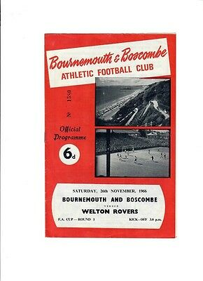 Bournemouth v Welton Rovers (FA Cup Round 1) - 26/11/1966