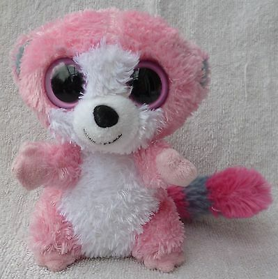 Rare Ty Beanie Boos/Boo Soft Plush Toy Bubblegum the Pink Lemur Retired 6""