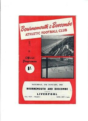 Bournemouth v Liverpool (FA Cup Round 3) - 27/01/1968