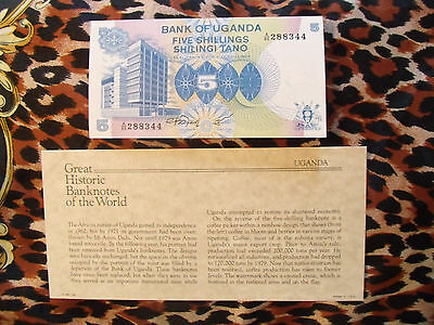 Great Historic Banknotes Uganda 1979 5 shillings P10 GEM UNC Prefix A/85